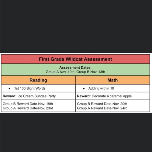 First Grade Assessment