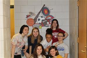 Students Spend Saturday Painting Mural in Restrooms