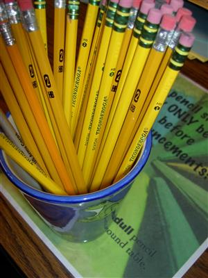 Cup full of pencils