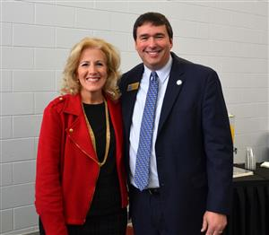 Superintendent Ashby with Commissioner Pruitt