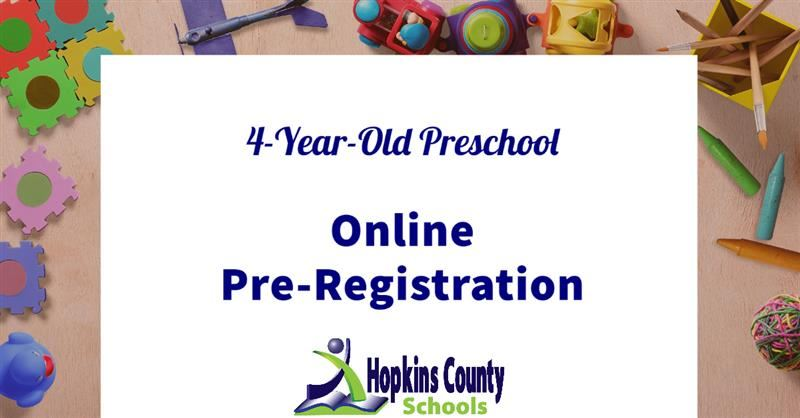 Online Pre-Registration for 4-Year-Old Preschool