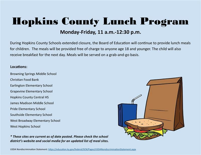 Hopkins County Lunch Program