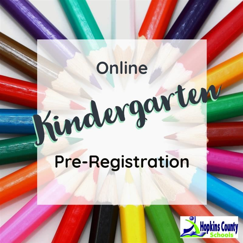 Online Kindergarten Pre-Registration with colored pencils