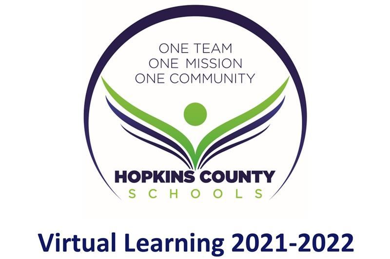 "The words ""Virtual Learning 2021-2022"" with the district logo"