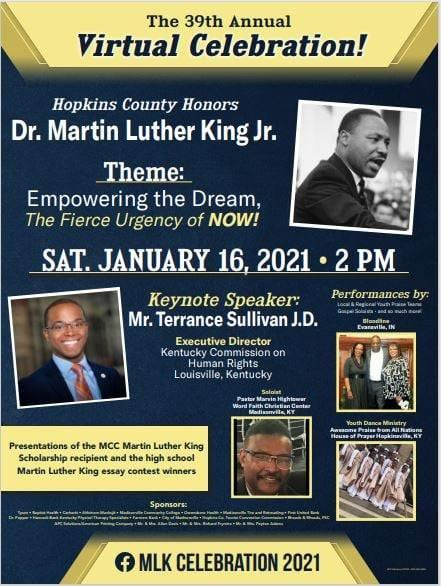 MLK Virtual Celebration Poster