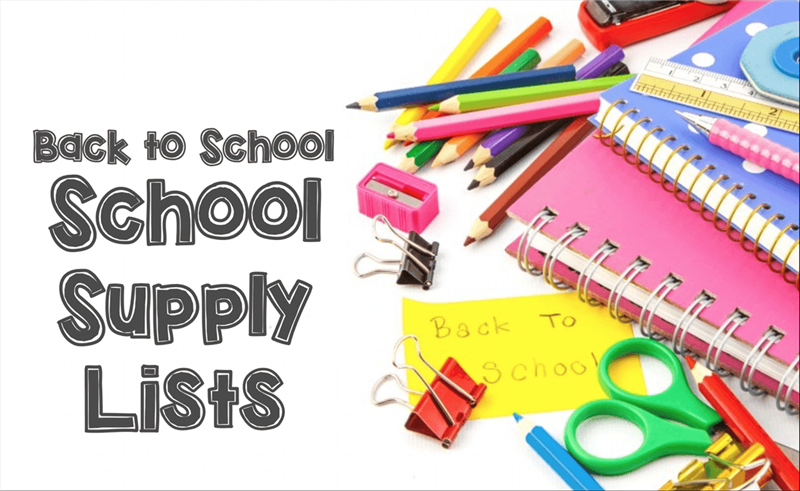 School Supplies Lists for All Grades