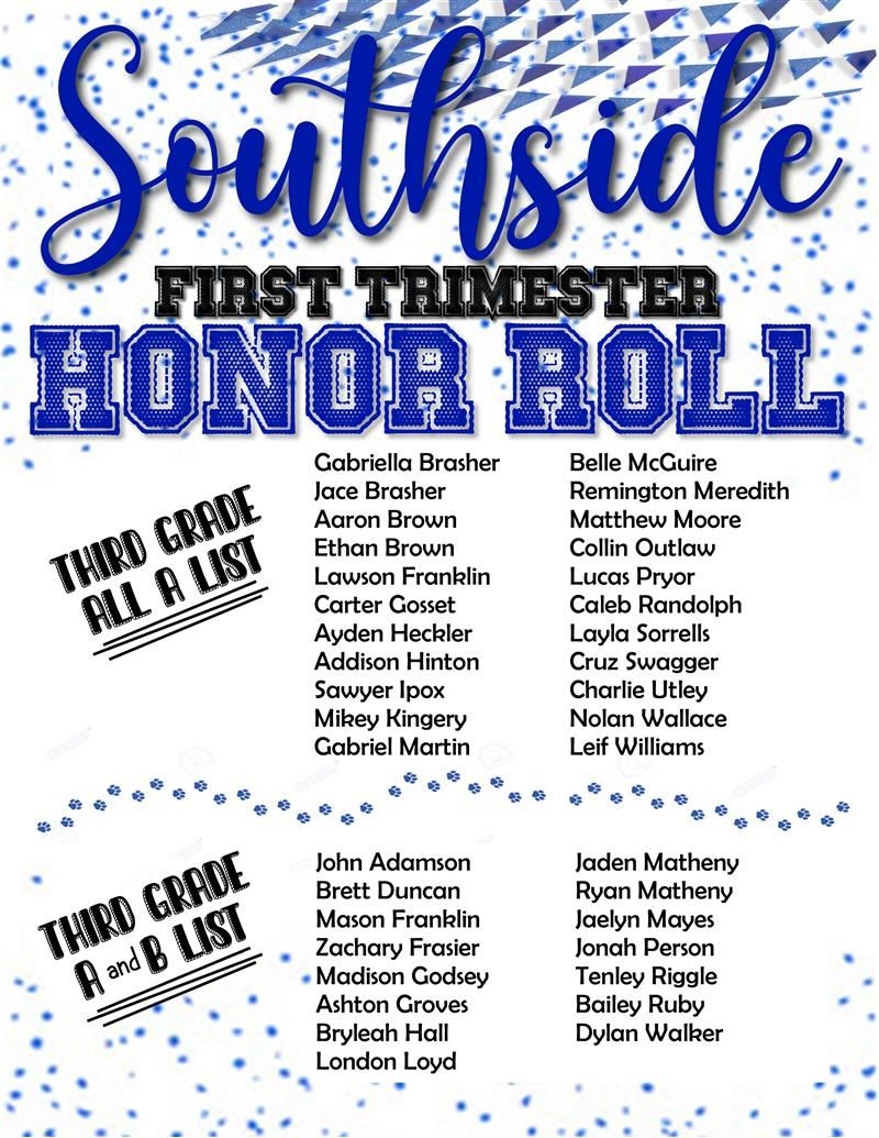 Third Grade Honor Roll