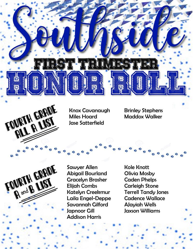 Fourth Grade Honor Roll