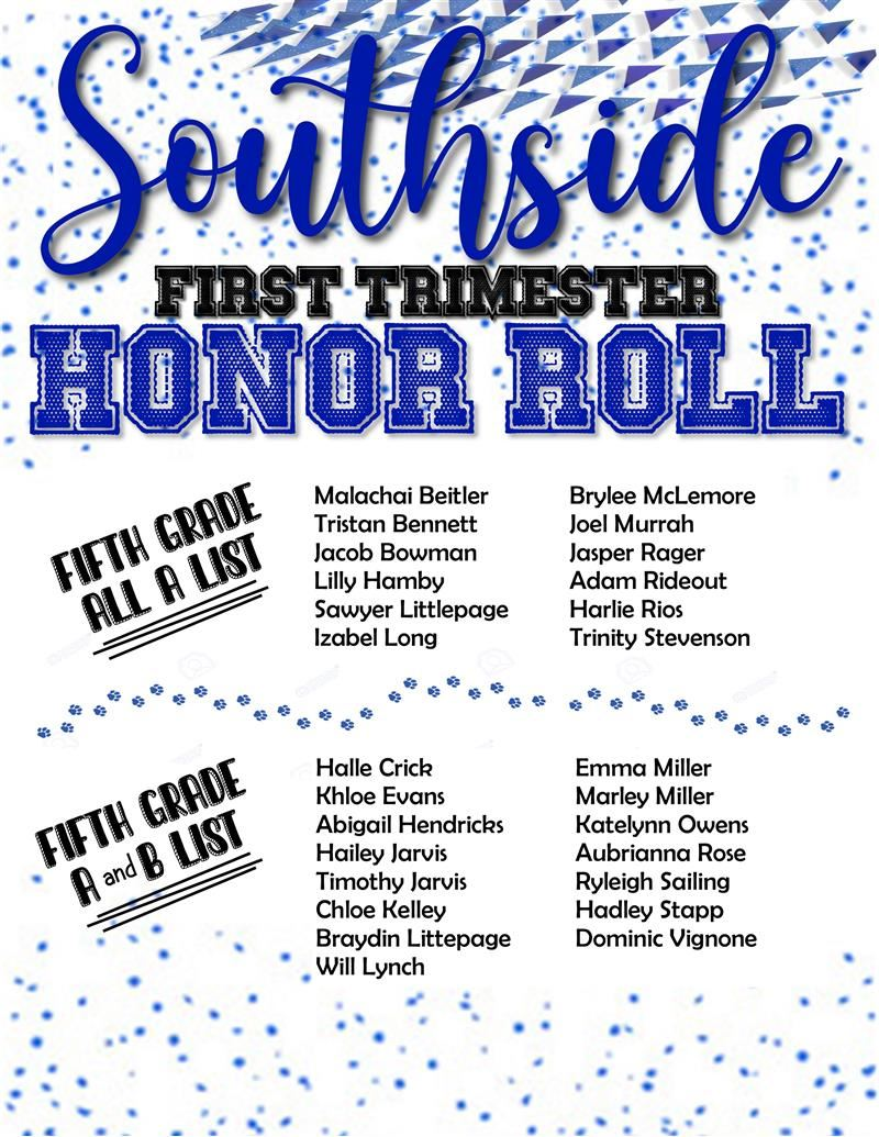 Fifth Grade Honor Roll
